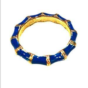 💚Blue Enamel Bamboo Ring
